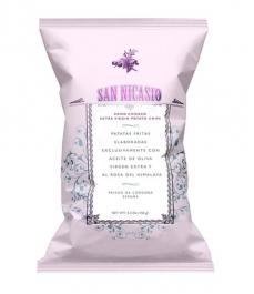 Patatas Fritas San Nicasio con sal rosa del Himalaya de 150g - Bolsa 150g.