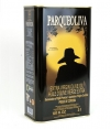 sale of olive oil parqueoliva black background is a can of 3litres