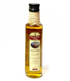 Trespuertas Viejo - botella vidrio con rafia personalizada 25 cl.