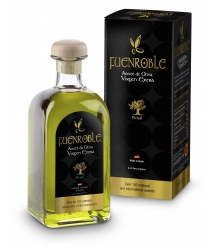 Fuenroble - Squared glass bottle 500 ml. with box