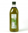 gold olive oil dance house watermark transparent plastic bottle that shows the contents of 1 l