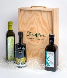 Gourmet Geschenk Box - 3 Olivenöele BIO