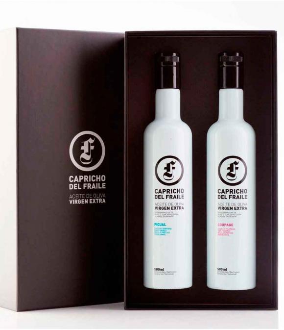 Capricho del Fraile Picual + Coupage - Estuche 2 botellas vidrio 500 ml.