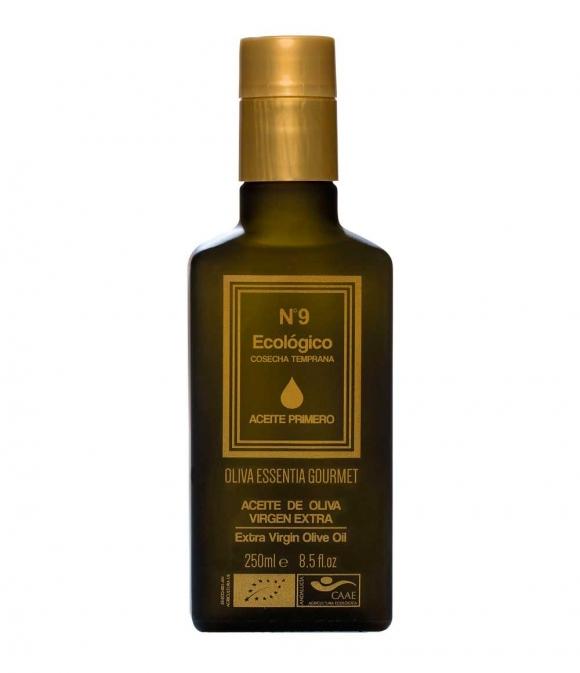 Oliva Essentia Primero Ecológico Picual Nº9 - Botella vidrio 250 ml.