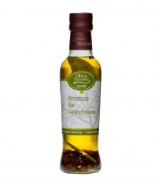 Oliva Essentia Aromatisé au Laurier et 4 poivres - Bouteille verre 250 ml.