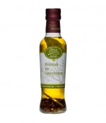 Oliva Essentia Aromatizado con Laurel y 4 pimientas - Botella vidrio 250 ml.