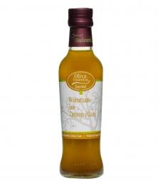 Oliva Essentia Aromatisiert mit Kreuzkümmel und Curry - Glasflasche 250 ml.