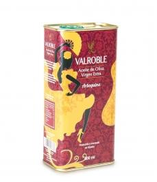 Valroble Arbequina - Bidon métal 500 ml.
