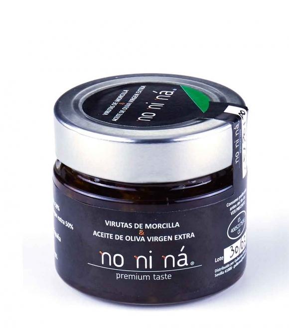 Morcilla con aceite de oliva virgen extra - Tarro vidrio 100 gr.