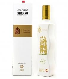 Gourmet La Roja - Bouteille Verre d'huile d'olive biologique 500 Ml. + Coffret