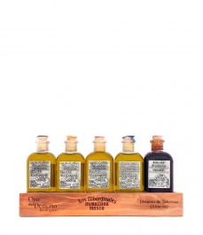 Oro del Desierto - Box of 5 squared glass bottles 100 ml.