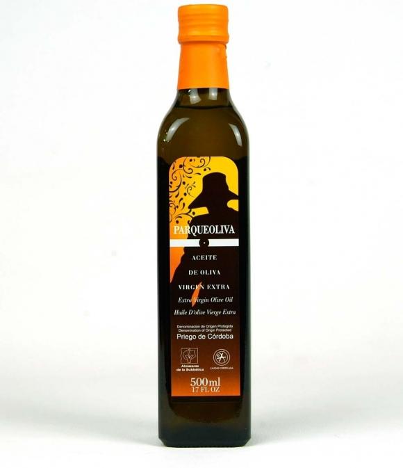 Parqueoliva Botella vidrio 500ml.