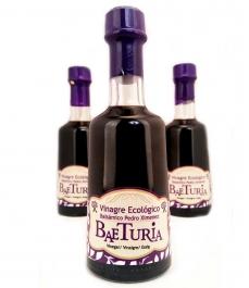 Balsamique au vinaigre biologique avec Pedro Ximénez Baeturia - bouteille en verre de 250 ml.