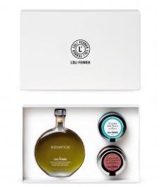 Estuche L'Oli Ferrer Essence, caviar de vinagre PX y flor de sal