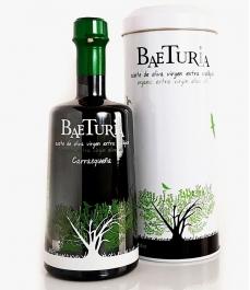 huile d'olive baeturia carrasqueña bouteille en verre de 500ml plus peut