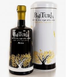 huile d'olive Baeturia Morisca bouteille en verre de 500ml avec boîte