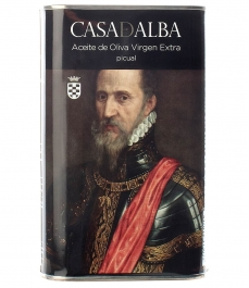 olive oil oliva casa de alba duque tiziano 500ml can