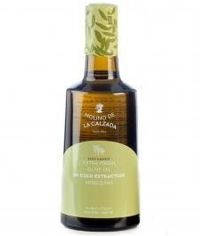 Molino de la Calzada Arbequina Bell 500ml. - Glass bottle 500 ml.