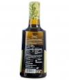 aceite de arbequina molinos de la calzada botella de aceite 500ml parte trasera de la etiqueta