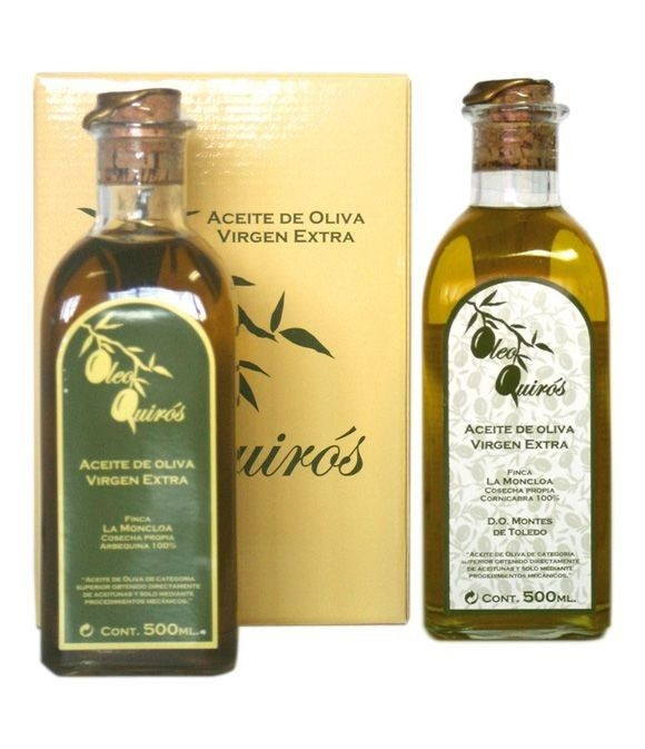 Oleo Quirós Picual - estuche cartón 2 frascas 500 ml.