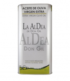 lata de aceite de oliva de 5 litros de la aldea de don gil