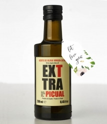 24 x Botellas de Regalo de Exttra Picual Cosecha Temprana personalizadas de 250 ml - Botella Vidrio 250 ml.