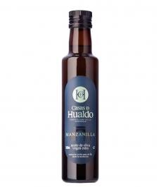 aceite de oliva casas de hualdo manzanilla botella de vidrio de 250ml