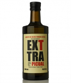 Exttra Picual de 500ml - Botella de vidrio 500 ml.