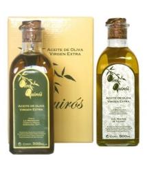 Oleo Quirós Arbequina - estuche cartón 2 frascas 500 ml.
