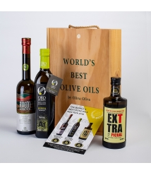 3 New York Gold Medals 2019 in a gourmet gift box - The most prized oils to give away