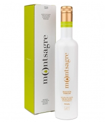 Montsagre Picual de 500ml en estuche- Botella vidrio 500 ml.