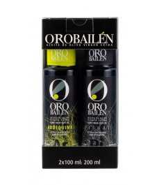Oro Bailén - Coffret mixte 2 bouteilles en verre 100 ml.