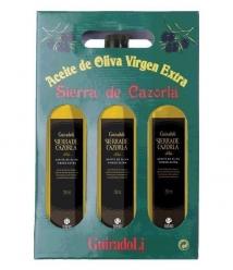 Sierra de Cazorla - estuche 3 botellas 75 cl.