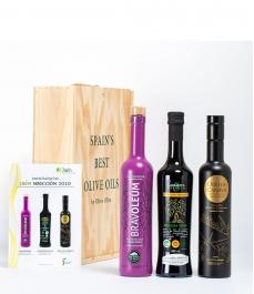 """3 """"Jaén Selección 2020"""" en Coffret cadeau Gourmet - Les meilleures huiles d´olive à offrir"""