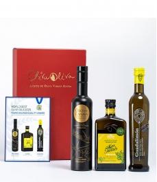 3 Mejores del Mundo 2020 (Mario Solinas) en estuche de regalo premium - Los aceites más premiados para regalar