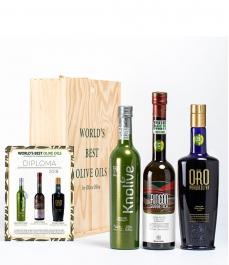 3 Mejores del Mundo 2018 (Evoo World Ranking) en caja gourmet - Los aceites más premiados para regala