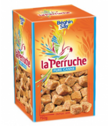 La Perruche y Béghin Say - La Perruche - Terrones de Irregulares de azúcar moreno 750g (8uni)