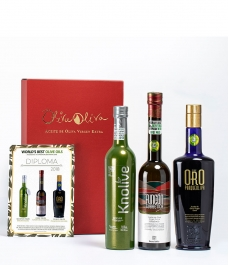 3 BEST OILS IN THE WORLD 2018 (Evoo World Ranking) in a premium box - The most awarded oils to give away
