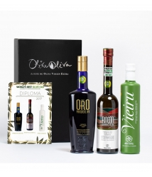 3 BEST OILS IN THE WORLD 2017 (Evoo World Ranking) in a premium box - The most awarded oils to give away