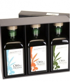 Oro del Desierto - Box of 3 squared glass bottles 250 ml.