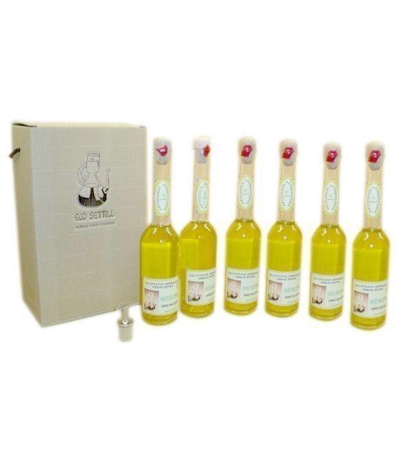 Eco Setrill - Caja 6 botellas vidrio 200 ml. + vertedor