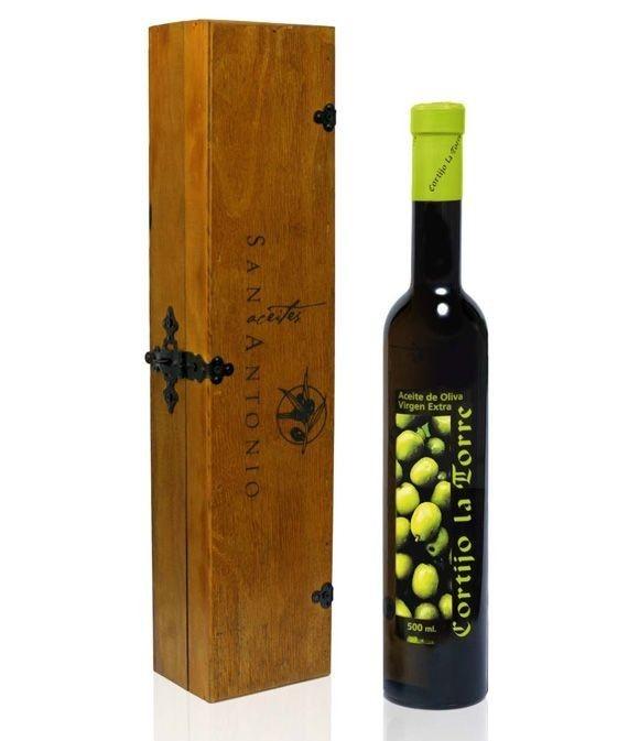 Cortijo la Torre - Botella vidrio 500 ml. + estuche madera