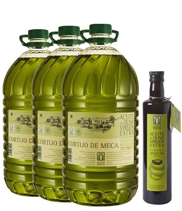 """Cortijo de Meca """"Primeros Días de Campaña 2011 / 2012"""" - 3 Garrafas + 1 botella Primer Día (gratis)"""