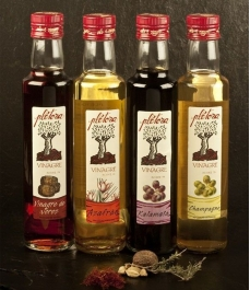 "Vinagre Plétora ""de azafrán"" - botella vidrio 250 ml."