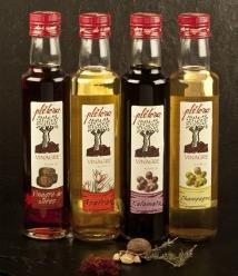 """Vinagre Plétora """"de Champagne"""" - botella vidrio 25 cl."""