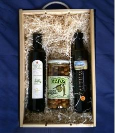 Caja regalo Gourmet - Aceites y aceitunas