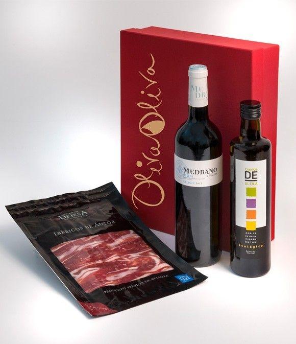 Caja regalo Gourmet - Coupage Ecológico, Rioja y Bellota