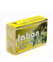 Jabón de aceite de oliva y limón - Pastilla 125 gr.