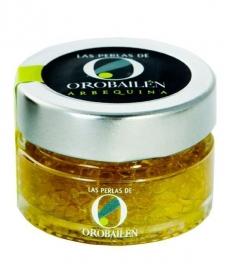 Perlen von Olivenöl Oro Bailén Reserva Familiar Arbequina - Glas 50 gr.