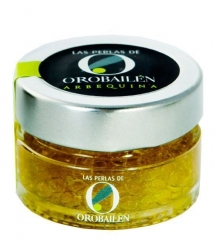 Oro Bailén Extra Virgin Olive Oil Pearls - 50 gr. glass jar
